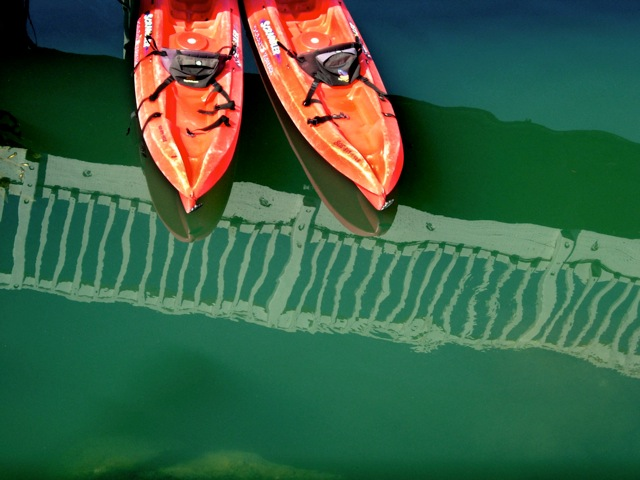 Boats on a Fence, reflections